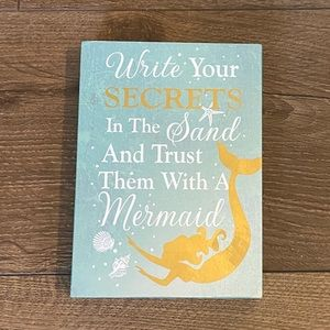 Hobby Lobby Blue & Gold Mermaid Quote Decor Plaque